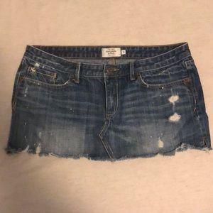 Abercrombie & Fitch denim mini skirt